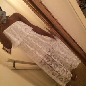 Charlotte Russe white halter top dress